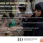 WOMEN OF SOUTH YEMEN: SECURING PEACE AND STABILITY